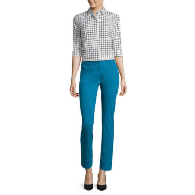jcpenney.com | Worthington® Elbow-Sleeve Clean-Front Shirt or Slim-Fit Ankle Pants