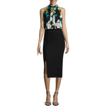 jcpenney.com | Worthington® Sleeveless Tie-Neck Blouse or Side Lace-Up Pencil Skirt
