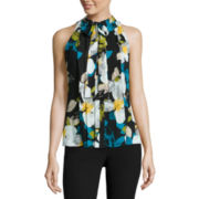 Worthington® Sleeveless Tie-Neck Blouse