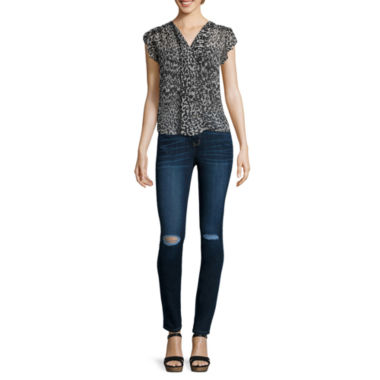 jcpenney.com | a.n.a® Flutter-Sleeve Popover Blouse or Skinny Jeggings