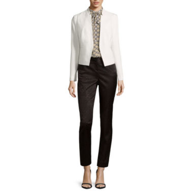 jcpenney.com | Worthington® Notch-Collar Jacket, Sleeveless Tie-Neck Blouse or Slim-Fit Ankle Pants