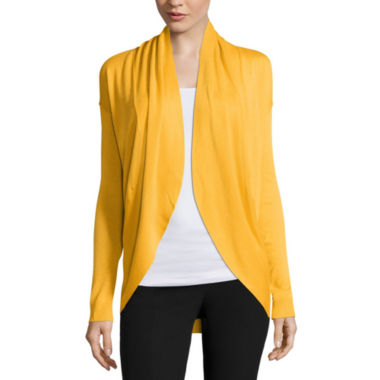 jcpenney.com | Worthington® Long-Sleeve Drop-Shoulder Cardigan