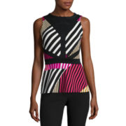 Worthington® Sleeveless Cutout Peplum Top