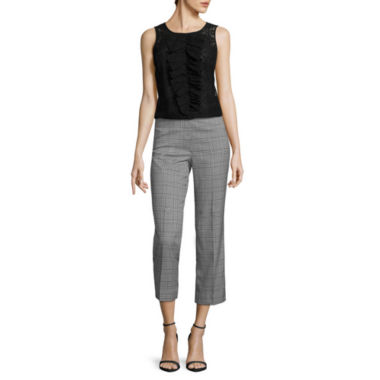 jcpenney.com | Worthington® Sleeveless Lace Ruffled Blouse or Flare Cropped Pants