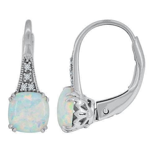 Multi Color Opal Sterling Silver Drop Earrings
