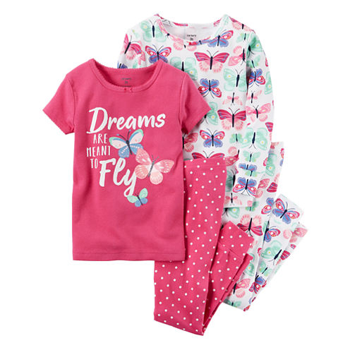 Carter's 4-pc. Kids Pajama Set - Toddler Girls