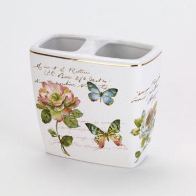 Avanti Butterfly Garden Toothbrush Holder
