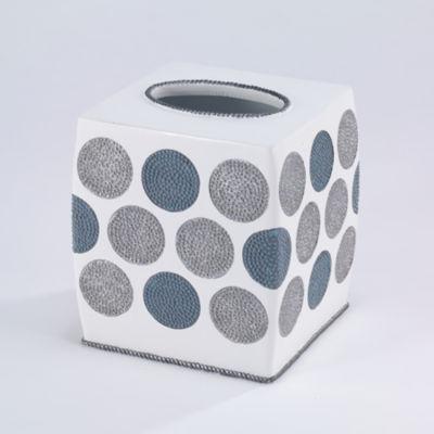 Avanti Dotted Circle Tissue Box Cover