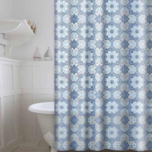 Peva Esha 13-pc. Shower Curtain Set