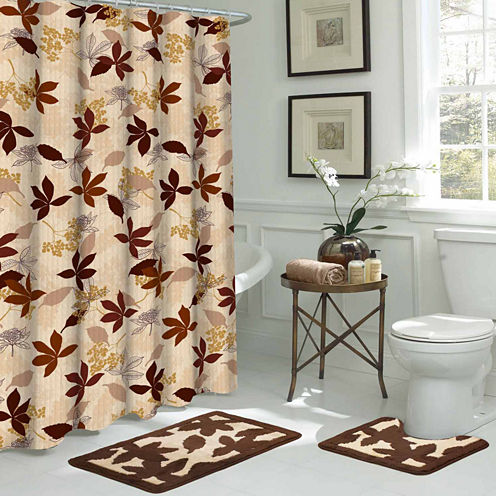 Blowing Leaves 15-pc. Shower Curtain Set