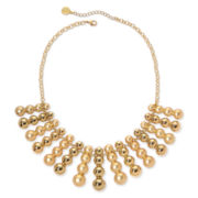 Liz Claiborne Gold-Tone Circles Collar Necklace