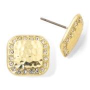 Monet® Gold-Tone & Crystal Stud Earrings