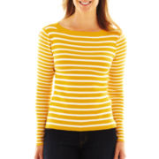 Liz Claiborne Striped Boatneck Sweater