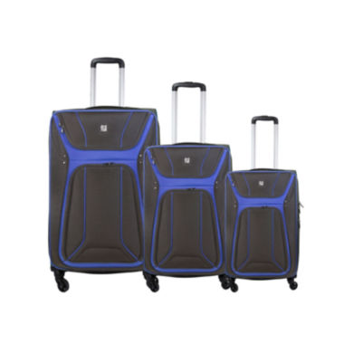 jcpenney.com | FUL® Delancey 3-pc. Soft-Sided Spinner Upright Luggage Set