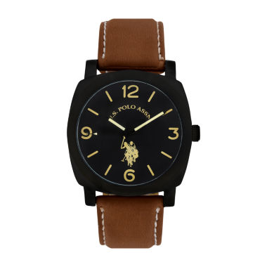 jcpenney.com | U.S. Polo Assn. Mens Brown Strap Watch-Usc50391