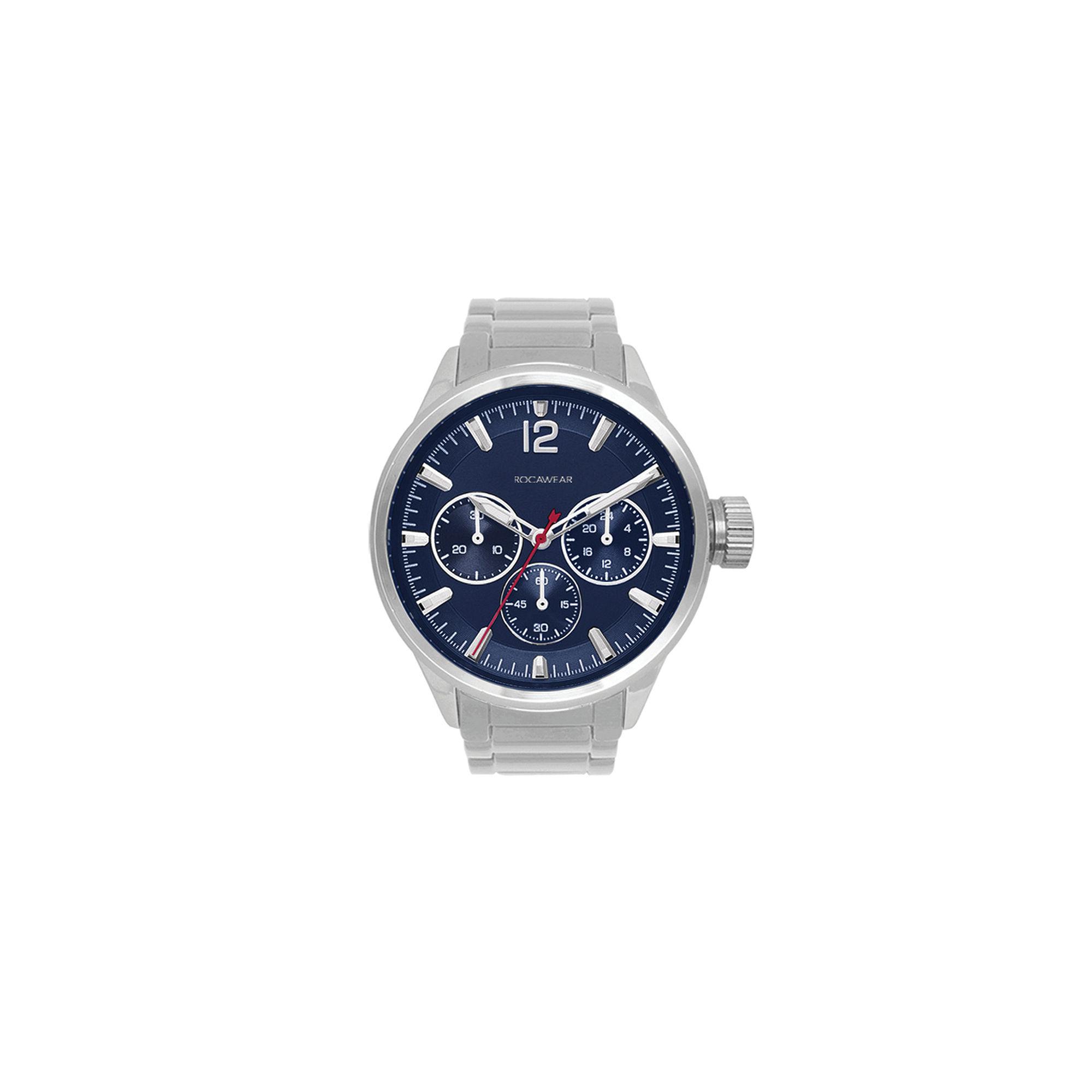 Rocawear Mens Silver Tone Bracelet Watch-Rm7998s1-102