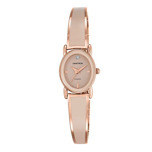 Armitron All Sport Womens Rose Goldtone Bangle Watch-75/5423bhrg