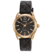 Citizen Black Strap Watch-Fe6083-13e