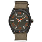 Citizen Mens Green Strap Watch-Bm6995-01x