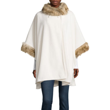 jcpenney.com | Mixit™ Fleece Wrap with Fur Collar