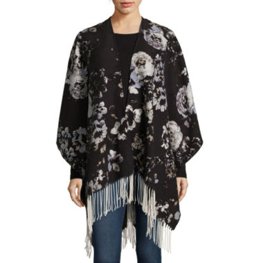 jcpenney.com | Liz Claiborne® Floral Print Scarf with Fringe