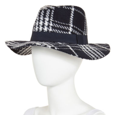 jcpenney.com | Oversized Plaid Panama Hat