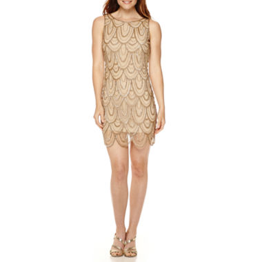 jcpenney.com | Prelude Sleeveless Golden Beaded Tank Dress