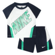 Nike® Short-Sleeve Tee and Shorts Set - Toddler Boys 2t-4t