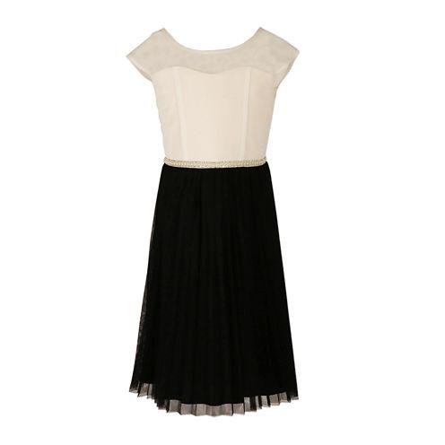 Speechless® Sleeveless Mesh Skater Dress - Girls
