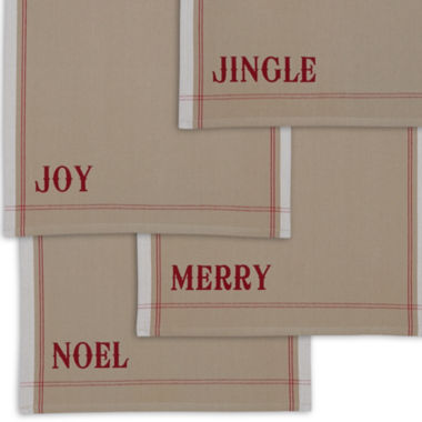 jcpenney.com | Design Imports Set of 4 Christmas Heavyweight Kitchen Towels
