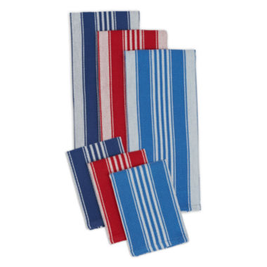 jcpenney.com | Design Imports Set of 3 Kitchen Towels and Set of 3 Dishcloths
