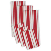 Design Imports Set of 3 Kitchen Towels and Set of 3 Dishcloths