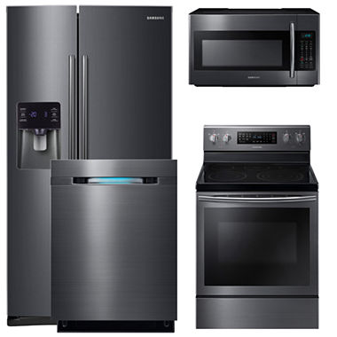 Samsung 4 Pc Electric Kitchen Package Me18h704sfs Aa Jcpenney