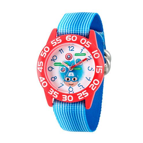 Emoji Marvel Boys Blue Strap Watch-Wma000076