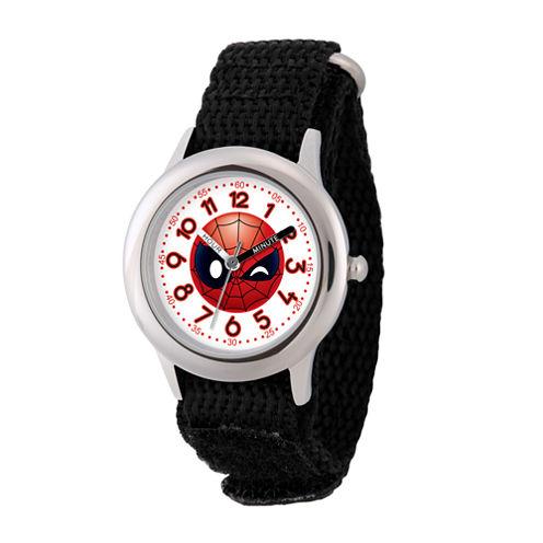 Emoji Marvel Boys Black Strap Watch-Wma000094
