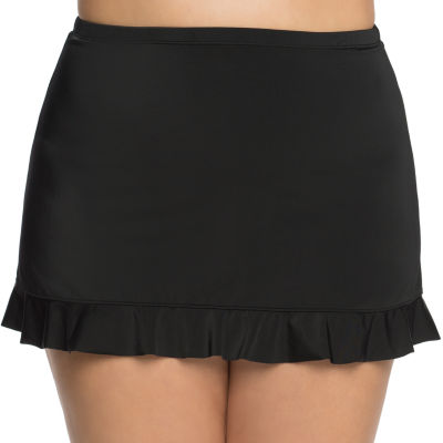 St. John's Bay Solid Swim Skirt-Plus
