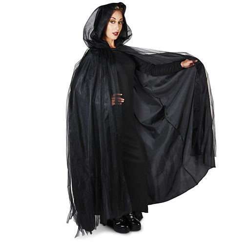 Hooded Lined Black Womens 2-pc. Dress Up Accessory