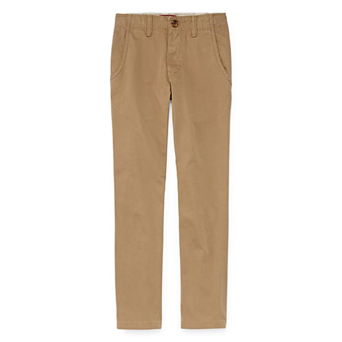 Arizona Flat Front Stretch Pants- Boys 8-20, Slim and Husky