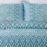 3-Piece Home Expressions Brookes Quilt Set in King or Queen (Blue)
