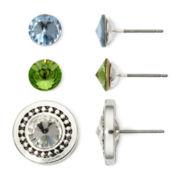 Sensitive Ears Cubic Zirconia 3-pr. Interchangeable Stud Earring Set