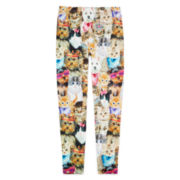 Capelli of New York Cat and Dog -Print Leggings - Girls 7-16