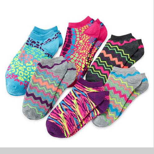 Total Girl® 6-pk. Star No-Show Socks - Girls 7-16