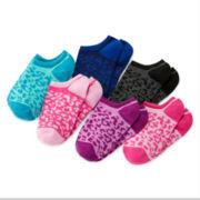 Total Girl® 6-pk. Cheetah-Print No-Show Socks - Girls 7-16