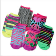Total Girl® 6-pk. Rocker Chick No-Show Socks - Girls 7-16