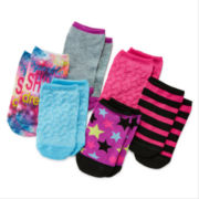 Total Girl® 6-pk. Shine No-Show Socks - Girls 7-16