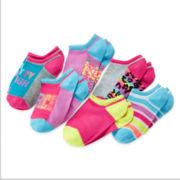 Total Girl® 6-pk. Pretty Tough No-Show Socks - Girls 7-16