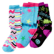 Total Girl® 3-pk. Knee-High Socks - Girls 7-16
