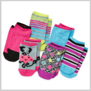Total Girl® 6-pk. Pug No-Show Socks - Girls 7-16