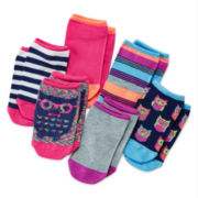 Total Girl® 6-pk. Owl No-Show Socks - Girls 7-16