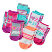 Total Girl® 6-pk. Love To Play No-Show Socks - Girls 7-16